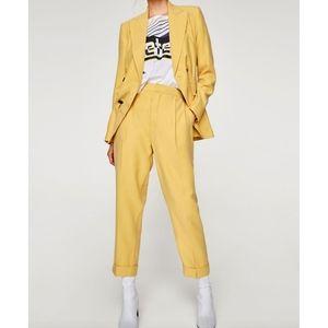Zara Yellow Trouser Suit Dress Pants